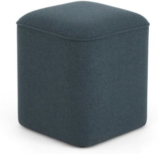 An Image of MADE Essentials Henri Pouffe, Aegean Blue