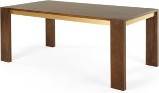 An Image of Anderson 8 Seat Dining Table, Mango Wood and Brass