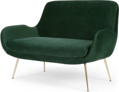 An Image of Moby 2 Seater Sofa, Pine Green Velvet