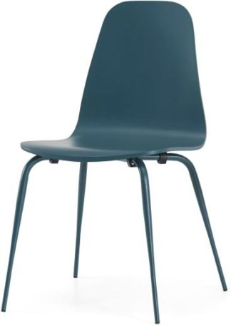 An Image of Juvia Dining Chair, Teal