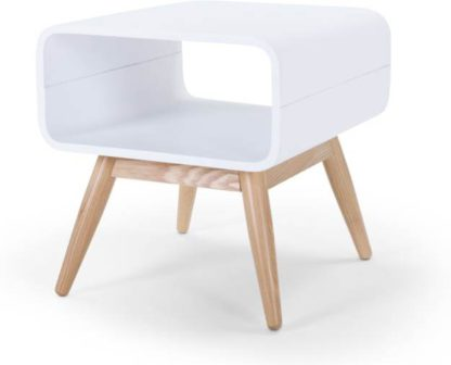 An Image of Esme Side Table, Ash and White