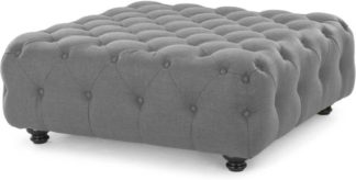 An Image of Branagh Large Ottoman, Pearl Grey