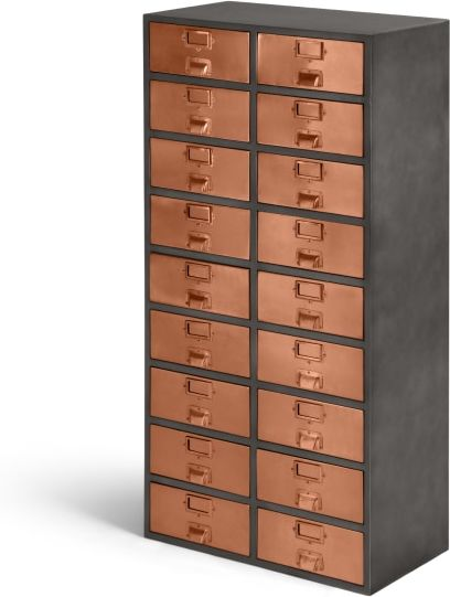 An Image of Stow Tall Storage Unit, Copper