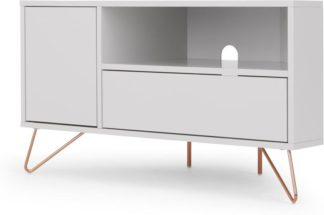An Image of Elona Corner Media Unit, Grey and Copper