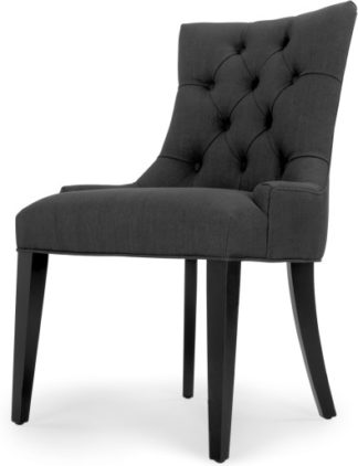 An Image of Flynn Scoop Back Chair, Midnight Black