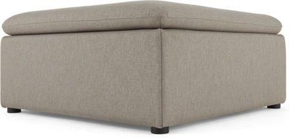 An Image of Victor Modular Sofa Ottoman, Portland Grey