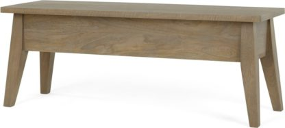 An Image of Fawn Storage Bench, Mango Wood