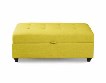 An Image of Leon Upholstered Ottoman - Olive