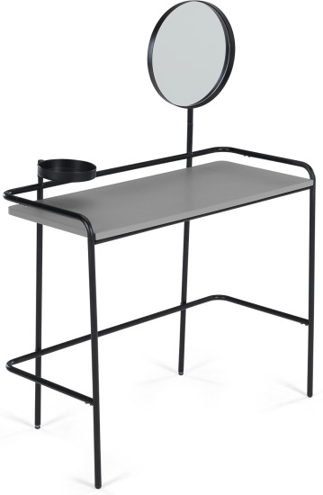 An Image of MADE Essentials Alana Dressing Table, Black