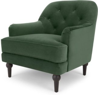An Image of Flynn Armchair, Elm Green Velvet