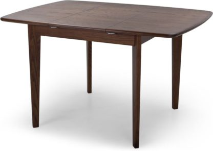 An Image of Monty 2-4 Seat Extending Dining Table, Dark Stain Ash
