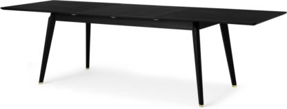 An Image of Albers Extending 6-12 Seat Dining Table, Black Stained Oak