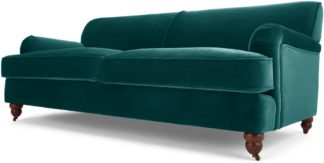An Image of Orson 3 Seater Sofa, Seafoam Blue Velvet