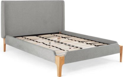 An Image of Roscoe Double Bed, Cool Grey
