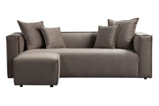 An Image of Max Three Seat Corner Sofa - Taupe