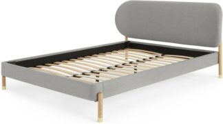 An Image of Fizzy King Size Bed, Cool Grey & Ash