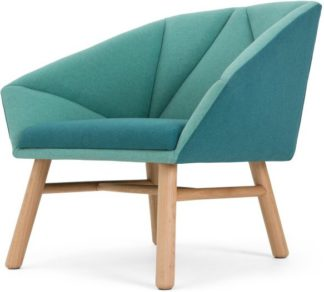 An Image of Facet Accent Chair, Mineral Blue and Emerald Green