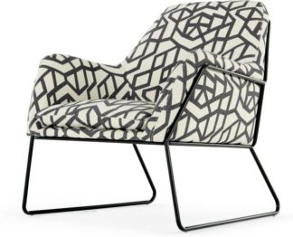 An Image of Frame Accent Armchair, Monochrome Brazil Print