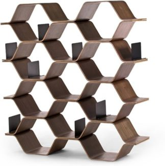 An Image of Polygon Shelving Unit, Walnut