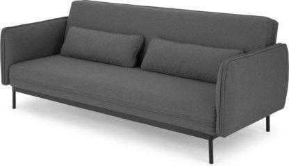 An Image of Shay Click Clack Sofa Bed, Marl Grey