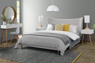 An Image of Tretton Bed Pale Grey