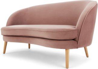 An Image of Gertie 2 Seater Sofa, Vintage Pink Velvet