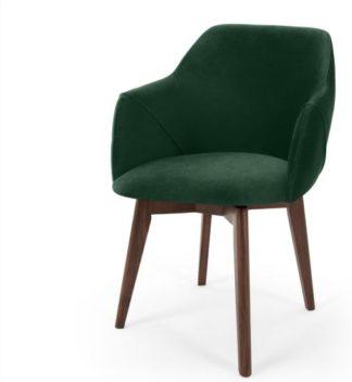 An Image of Lule Office Chair, Pine Green Velvet
