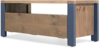 An Image of Bala Media Unit, Solid Wood and Blue