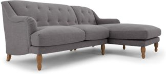An Image of Ariana Right Hand Facing Chaise End Corner Sofa, Graphite Grey