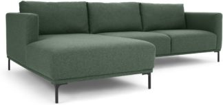 An Image of Milo Left Hand Facing Chaise End Corner Sofa, Darby Green