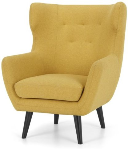 An Image of Hollis Armchair, Orleans Yellow