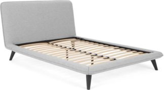 An Image of Guido King Size Bed, Thorpe Grey Weave