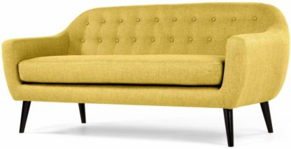 An Image of Ritchie 3 Seater Sofa, Ochre Yellow