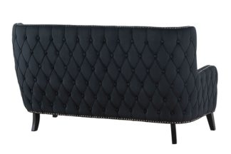 An Image of Margonia Two Seat Sofa - Black