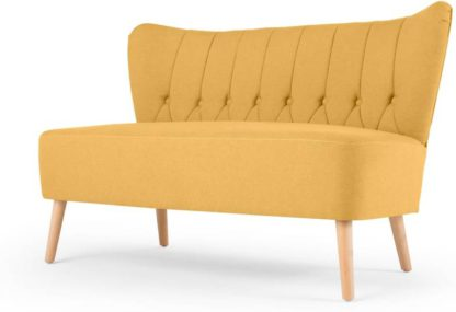 An Image of Charley 2 Seater Sofa, Yolk Yellow