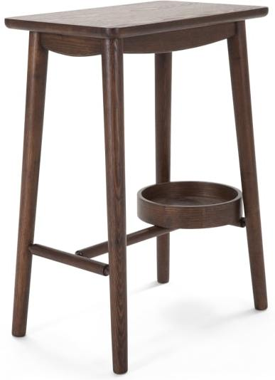 An Image of Penn Bedside Table, Dark Stain Ash