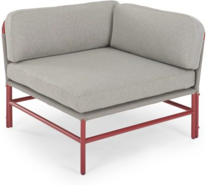An Image of Kian Modular Corner Unit, Rust Red and Grey