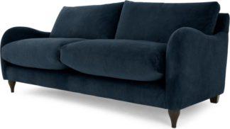 An Image of Sofia 2 Seater Sofa, Plush Indigo Velvet
