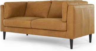 An Image of Lindon Large 2 Seater Sofa, Outback Tan Leather