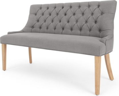 An Image of Flynn Dining Bench, Graphite Grey
