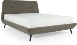 An Image of Edwin Super King Size Bed, Pavilion Marl Grey