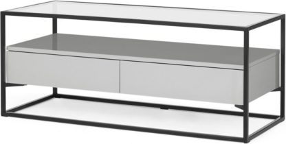 An Image of Jaxta Media Unit, Grey and Glass