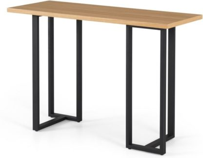An Image of Miru Console Desk, Oak and Black