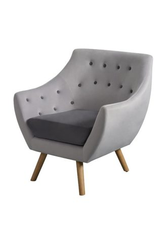 An Image of Poet Armchair, Grey Two Tones