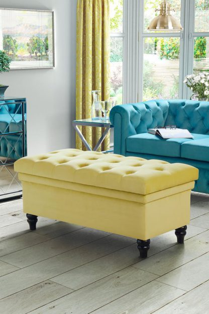 An Image of Bursnell Upholstered Ottoman - Olive