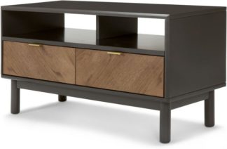 An Image of Belgrave Media Unit, Dark Stained Oak