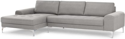 An Image of Vittorio Left Hand Facing Chaise End Corner Sofa, Pearl Grey