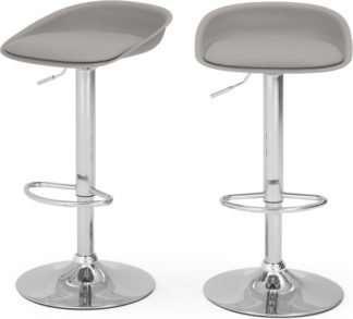 An Image of Set of 2 Kudo Adjustable Barstools, Grey