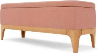 An Image of Roscoe Ottoman Storage Bench, Dusk Pink