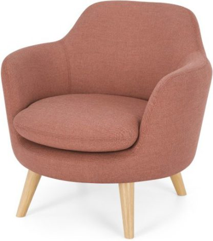 An Image of Nya Armchair, Rust Pink Weave